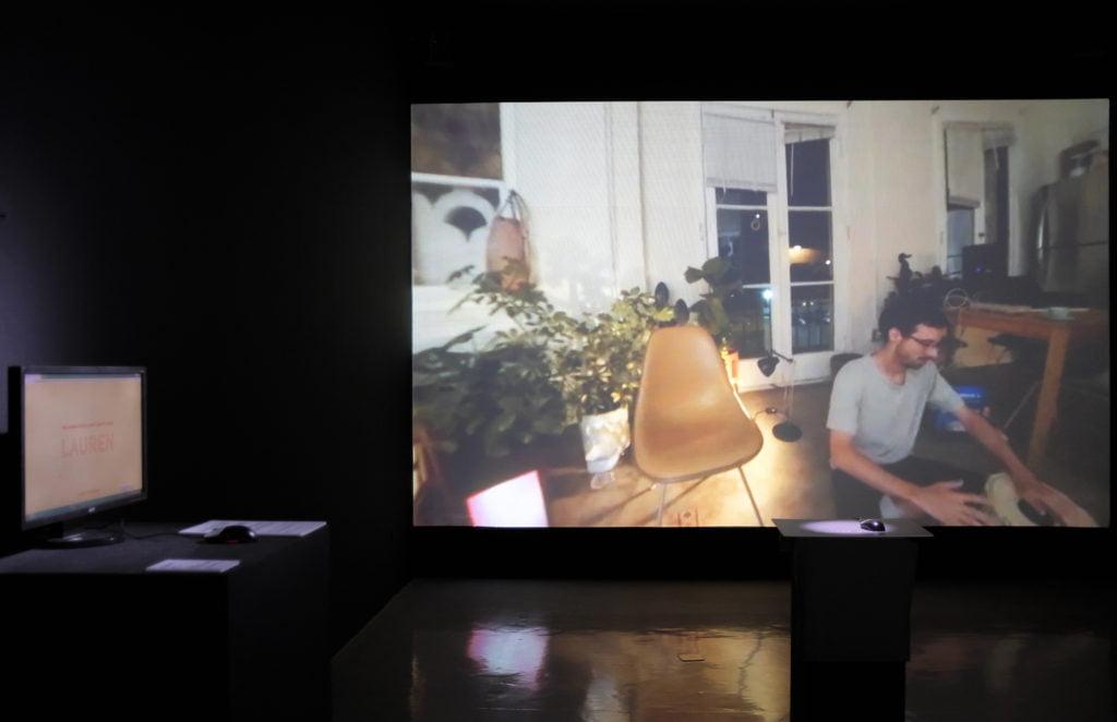 Lauren McCarthy (USA) Lauren 360 degree video and installation